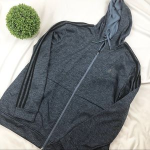 adidas full zip up hoodie sweatshirt jacket
